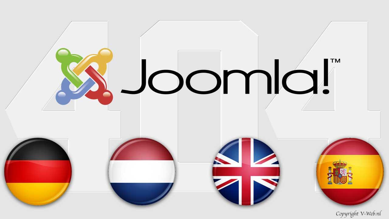 Joomla: meertalige 404-pagina maken