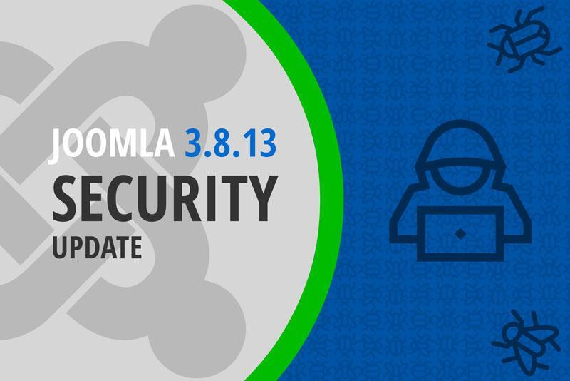 Joomla 3.8.13 Security Update