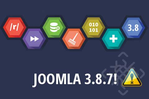Joomla 3.8.7 Bug Fix Update