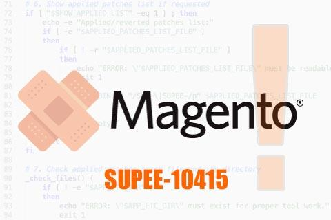 Magento Patch SUPEE-10415