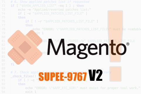 Magento Patch SUPEE-9767 V2